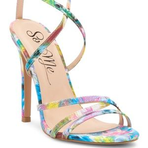 Strappy Multi Color Heels